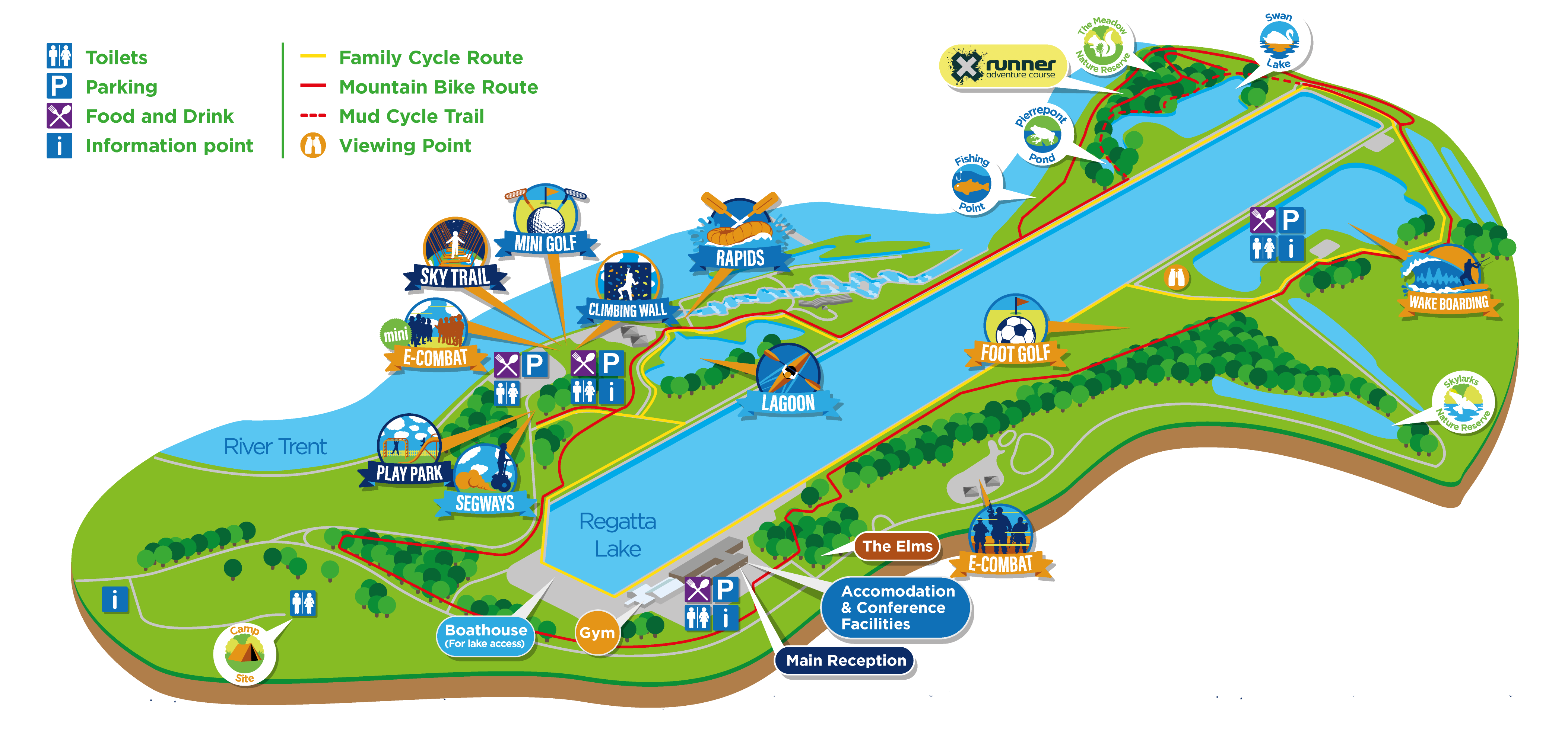 Park Map For Holme Pierrepont Country Park